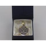 Medalla En Plata 925 Y Oro 18k Árbol De La Vida 3 Cm