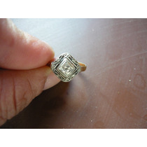 Anillo Oro 18 K Sellado Art Deco. Antiguo