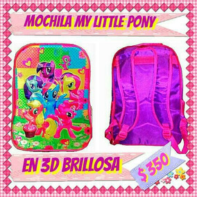 Mochila Escolar De My Little Pony 3d Con Holograma Animado