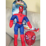 Muñeco Soft Spiderman Lic Marvel New Toys + Mascara C/luz