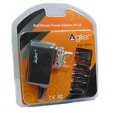 Cargador Agiler 5 Puntas Iphone Nokia Samsung Tablet 5v 2a