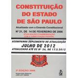 Constituiçao Do Estado De Sao Paulo