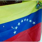 Bandera De Venezuela Con Escudo Nacional 50x35 Cms