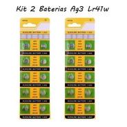 Kit 2 Cartelas Baterias Ag3lr41w 20 Unidades
