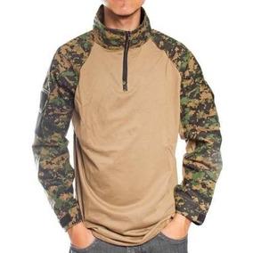 Camiseta Manga Longa Combat Shirt Camuflada Digital Marpat M