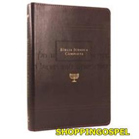 Bíblia Judaica Completa Marrom Direto Dos Originais At E Nt