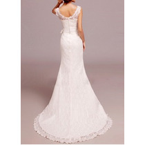 Vestido De Noiva Em Renda - Alcinha Decote - Pronta Entrega