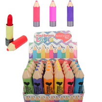 Caixa 24 Batom Infantil Em Formato De Lápis Criança Atacado