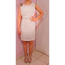 Vestido Branco Tecido Crepe Fino.