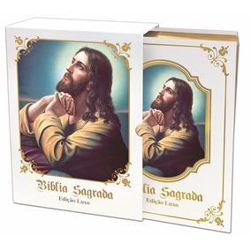 Bíblia Sagrada Católica - Ed. Luxo - Branca,sagrada,biblia