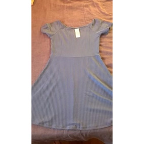 Vestido Corto De Morley Azulino Talle M