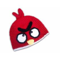 Gorro Tejido Angry Bird Rojo