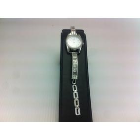 Reloj De Plata 925 Para Dama Con Piedras De Zirconia Blanco