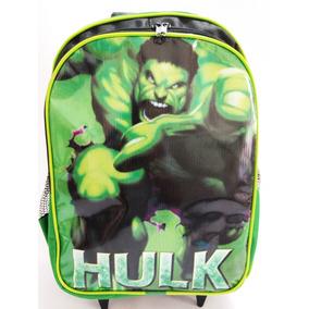 Mochila Infantil Do Hulk Com Rodinhas Promoção