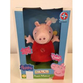 Pelúcia Peppa Pig Interativa Com Som 30cm Estrela Original *