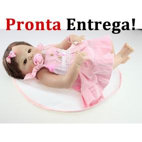 Pronta Entrega Boneca Bebe Reborn Menina Toda Vinil Silicone