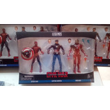 Marvel Legends Civil War: Spiderman - Cap. America - Ironman