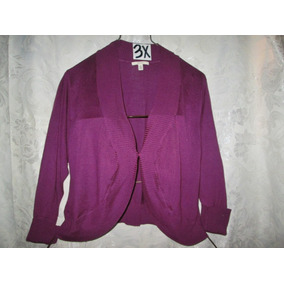 Sweater Plus Casual/vestir Purpura Talla 3 X Extragrande