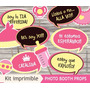 Photobooth Props Carteles Fotos Baby Shower - Kit Imprimible