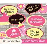 Photobooth Props Carteles Fotos Baby Shower - Kit Imprimible