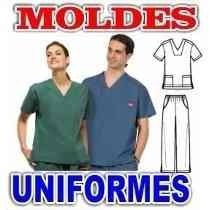 Moldes Patrones Imprimibles Uniformes Médicos Corte Costura