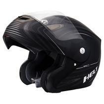 Capacete Helt New Hippo Wave Preto Fosco - Articul: 58/60/62
