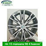 Rin 15 Manzana 98/100 4 Huecos Fiat Corola Aveo