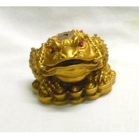 M186 Rana O Sapo De La Fortuna Con Moneda China Feng Shui