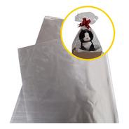 Saco Para Cesta Celofane Embalagem 60x89 Transparente Com 25