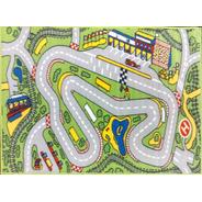 Carpeta Alfombra Infantil Pista De Autos 67 X 120 Mod.boxes