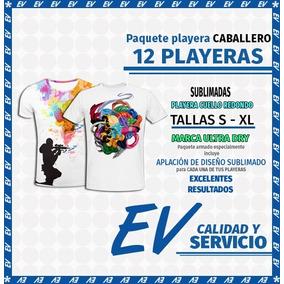 Paquete 12 Playeras Caballero Ultra Dry Sublimadas