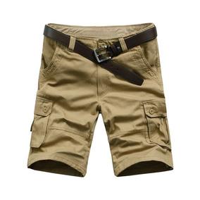 Casual Sólido Color Cremallera Volar Carga Pantalones Cortos