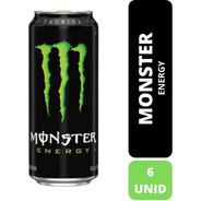 Bebida Energizante Monster Energy Green 473ml X6 Latas