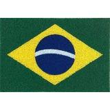 Tapete Capacho Bandeira Do Brasil - Com Bordas Rebaixadas