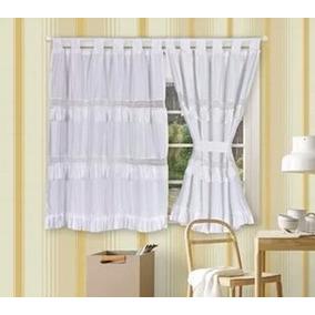 cortinas blancas cortas