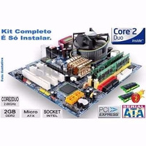 Kit De Placa Ddr2 + Processador + Memória. Com Brinde!