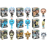 Funko Pop 9 Set Rick And Morty Wave 2 Con Chase Birdperson