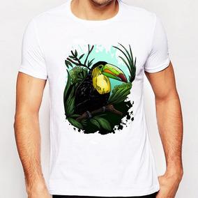 Remera Lo Creativo Tucan Aves Diseño Impresa Verano Para Ho