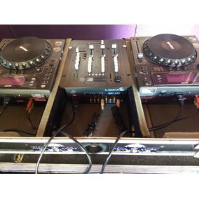 Kit Cdj Gemini 600 Com Usb + Mixer Lyco Com Usb + Case