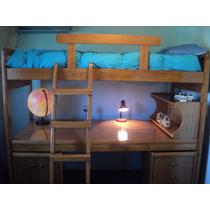 Juego Dormitorio Juvenil Camas Escritorio /serie A Muebles/