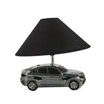 Lámpara De Buroe Diseño Auto Negro Con Plata Y Pantalla De 2