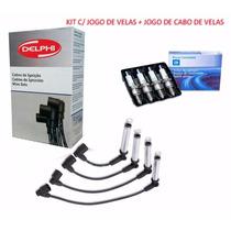 Kit Jogo De Velas E Cabos Gm Corsa Sedan 1.0 E 1.6 Gasolina