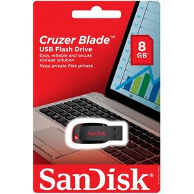Pen Drive 8g Sandisk 100% Original Lacrado E Com Garantia