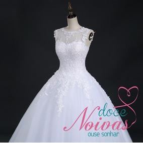 Vestido Noiva Debutante Transparencia Barato Pronta Entrega