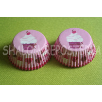 * Capacillos Rosas Muffins Decorados Cupcake Fondant