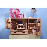 Organizador O Exhibidor Maquillaje En Mdf (foto Referencial)