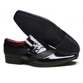 Sapato Social Calvest Em Couro Com Textura Nbo E Verniz - Pr