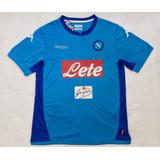 Camisa Kappa Napoli Oficial 2017 Pronta Entrega