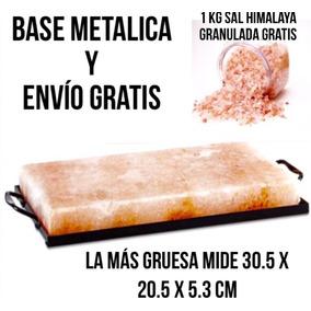 Bloque Sal Himalaya + Base Metalica + 1 Kg De Sal Himalaya