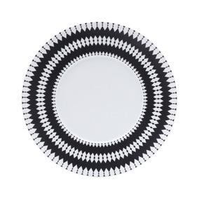 Jogo 6 Pratos De Jantar De Porcelana 27cm Alchime Noire